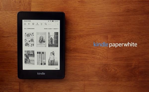 亚马逊发布全新Kindle Paperwhite:全平设计 新增iPX8防水