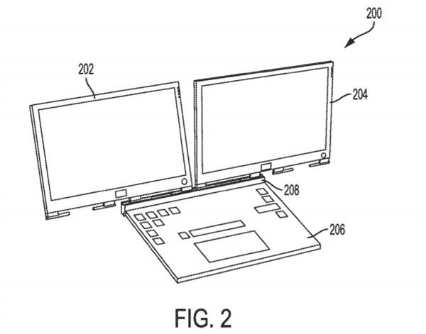 戴尔双屏笔记本专利曝光:磁吸式接口 屏幕可拆卸