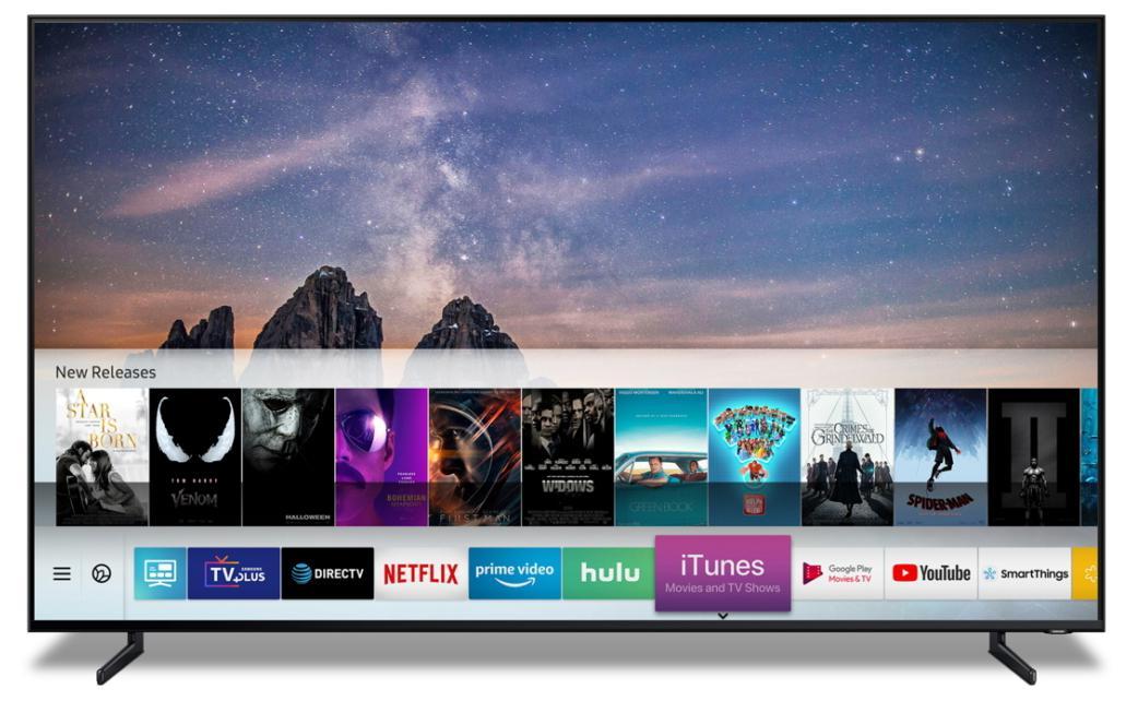 三星将在Smart TV上推iTunes影视节目应用程序并支持AirPlay 2