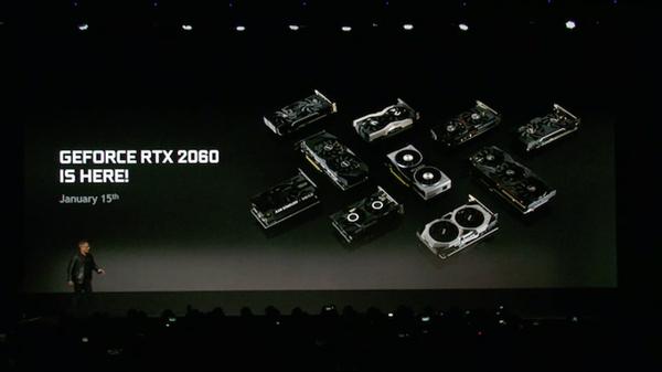 NVIDIA RTX 2060发布!比GTX 1060快60%、349美元