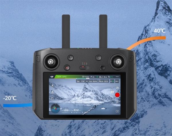 大疆DJI带屏遥控器发布:8公里图传/户外也看得清