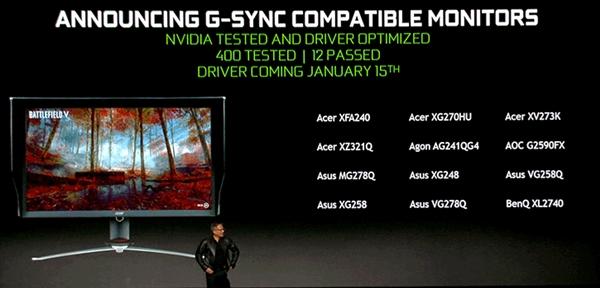 NVIDIA即日起对Freesync显示器解锁支持G-Sync
