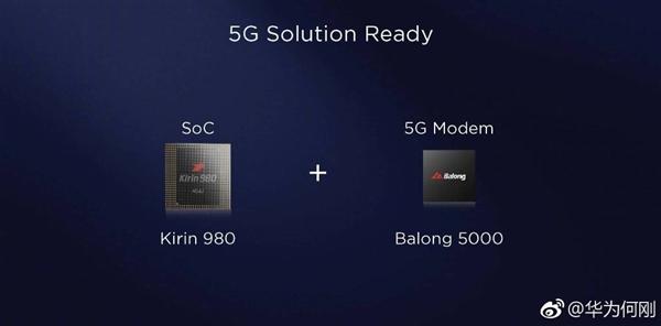 华为发布5G多模基带巴龙5000:毫米波下可达6.5Gbps
