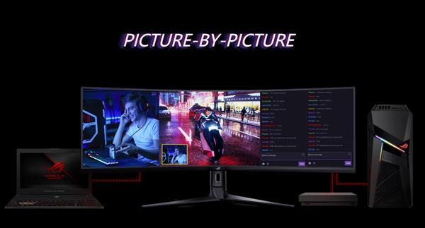 华硕发布49寸带鱼屏显示器XG49VQ:144Hz刷新率