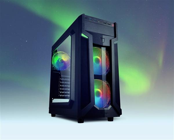 旋刚推出全新PC机箱:预装3个RGB风扇