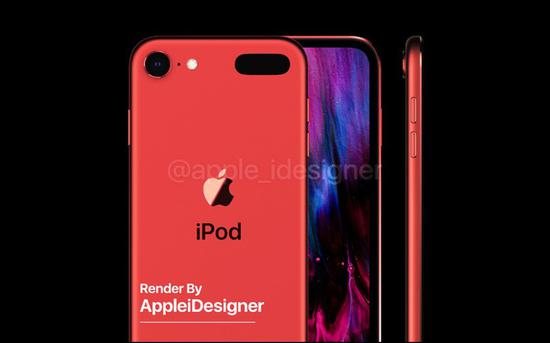 iPod touch 7渲染图再度来袭 无刘海全面屏外观绝赞