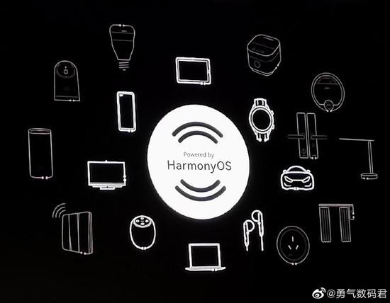 华为鸿蒙OS Logo曝光:Powered by HarmonyOS